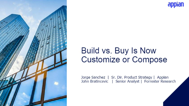 Build vs. Buy Is Now Customize or Compose