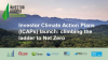 Investor Climate Action Plans (ICAPs) launch: climbing the ladder to Net Zero
