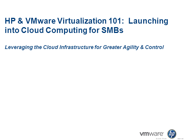 Virtualization 101: Launching into Cloud Computing for SMBs