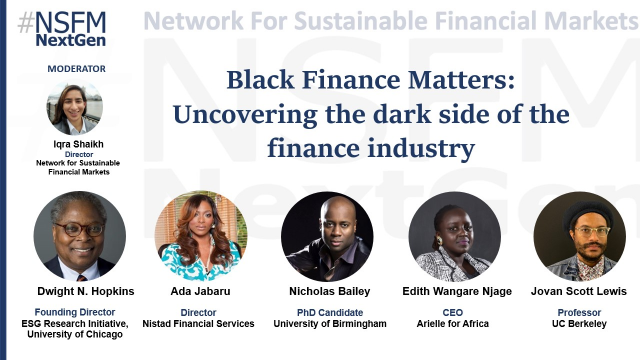 Black Finance Matters:  Uncovering the dark side of the finance industry