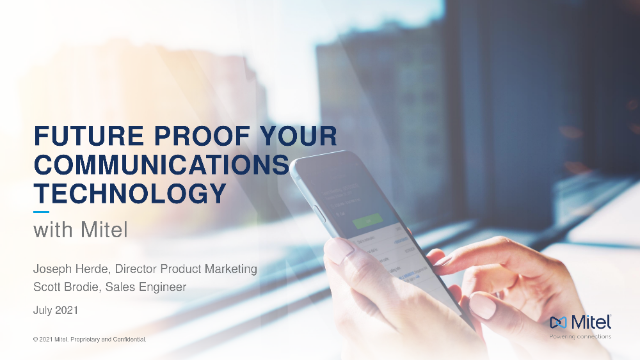 Future-proof your Communications Technology with Mitel