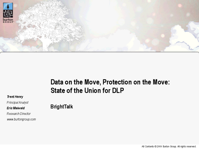 State of the Union for DLP