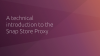 A technical introduction to the Snap Store Proxy