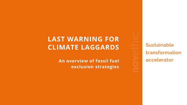 Last warning for climate laggards: overview of fossil fuel exclusion strategies