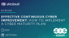 Effective continuous cyber improvement: How to implement a cyber maturity plan