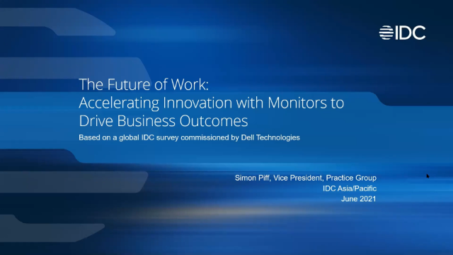 The Future of Work: Accelerating Innovation with Monitors to Drive Business