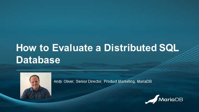 How to Evaluate a Distributed SQL Database