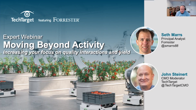 Moving Beyond Activity: Increase your Focus on Quality Interactions and Yield
