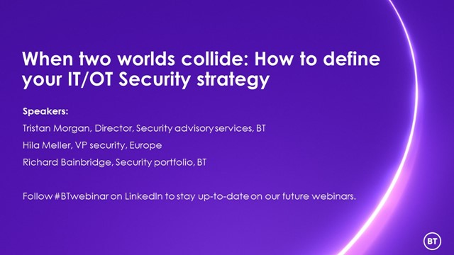 When two worlds collide: How to define your IT/OT Security strategy