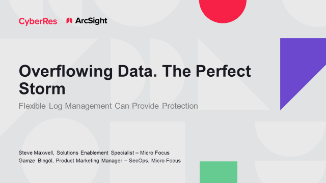 Overflowing Data. A Perfect Storm. Flexible Log Management Provides Protection.
