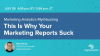 Marketing Analytics Mythbusting: This Is Why Your Marketing Reports Suck