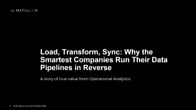 Load, Transform, Sync: Why the Smartest Companies Run Data Pipelines in Reverse