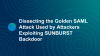 Dissecting the Golden SAML Attack Used by Attackers Exploiting SUNBURST Backdoor