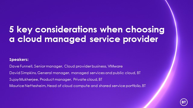 5 key considerations when choosing a cloud managed service provider