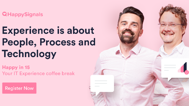 Experience is about People, Processes and Tech - In that order