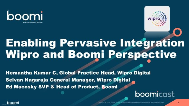Enabling Pervasive Integration – A Wipro and Boomi Perspective