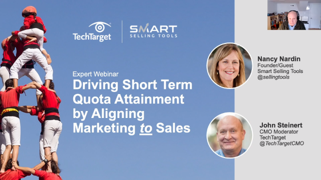 Driving Short-Term Quota Attainment by Aligning Marketing to Sales