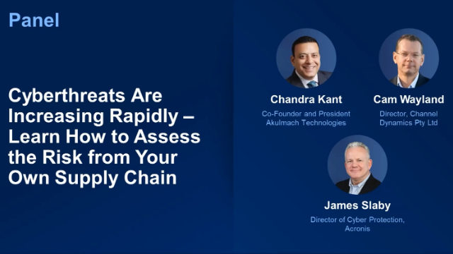 Learn How to Assess Cyberthreat Risks from Your Own Supply Chain