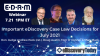 Important eDiscovery Case Law Decisions for July 2021