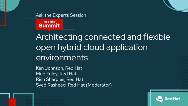 Architecting connected and flexible open hybrid cloud application environments