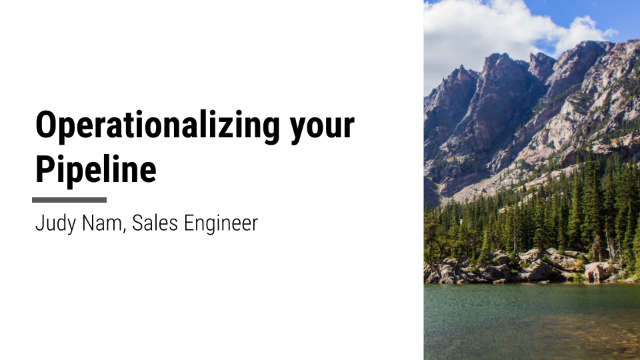 Operationalise Your Data Pipeline and Models