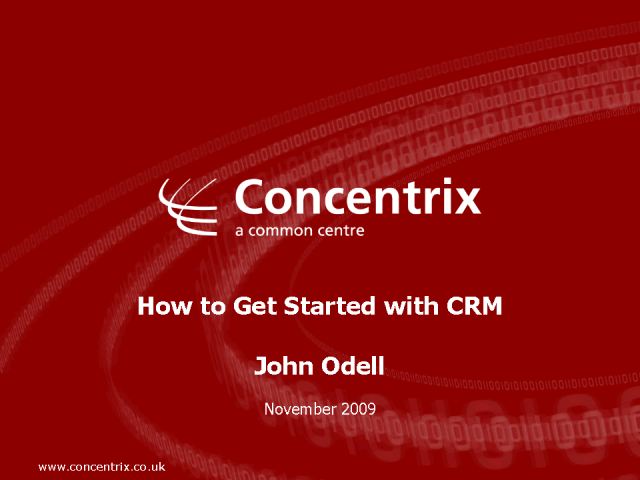 How to get started with CRM