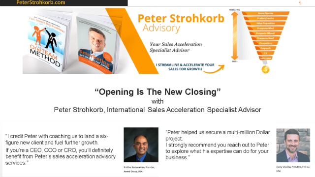 Selling in the 2020's: Opening Is The New Closing