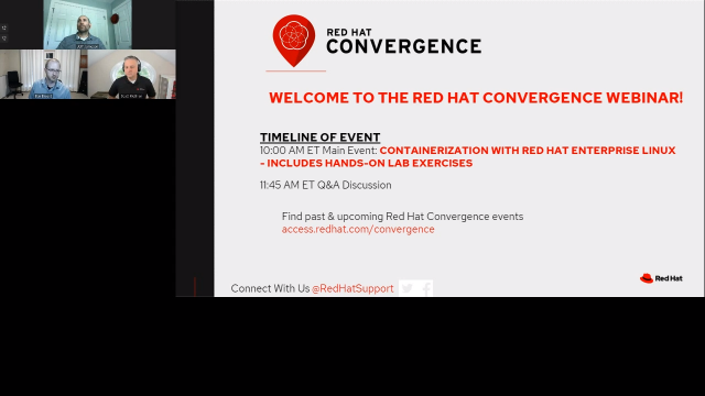 Containerization with Red Hat Enterprise Linux— includes hands-on lab exercises