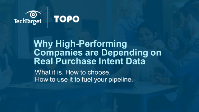 Intent Data: Use Cases of High Performance Companies