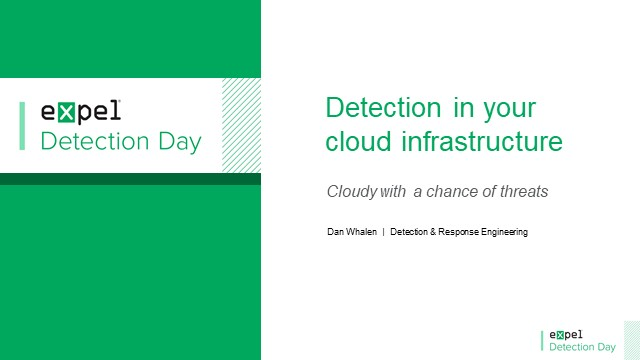 Detections in your cloud infrastructure