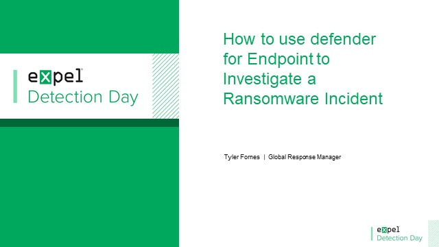 How to use Defender for Endpoint to investigate a ransomware incident
