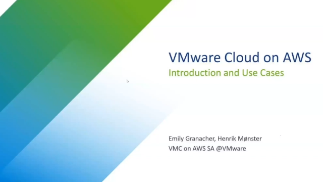 An Introduction to VMware Cloud on AWS and Use Cases