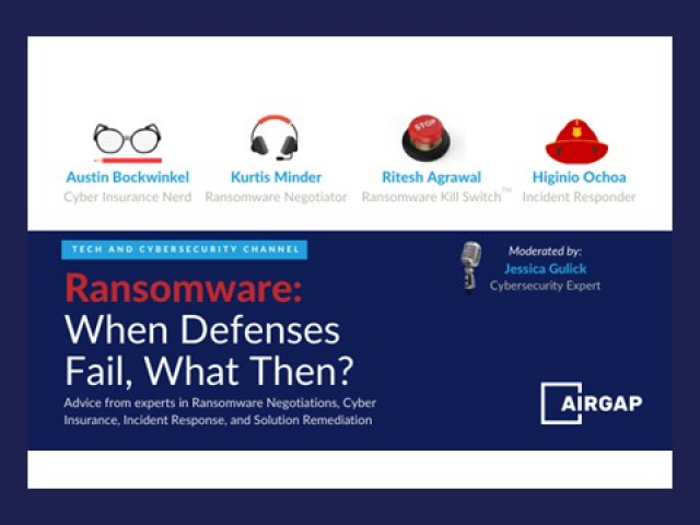 Ransomware: When Prevention Fails, What Then?