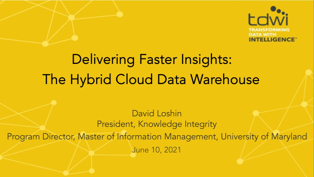 Delivering Faster Insights: The Hybrid Cloud Data Warehouse (APAC)