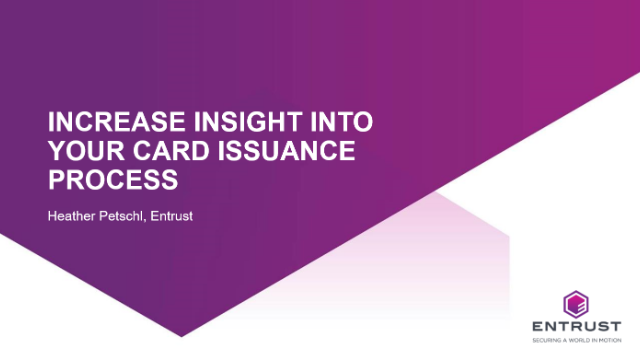 Increase insight into your card issuance process