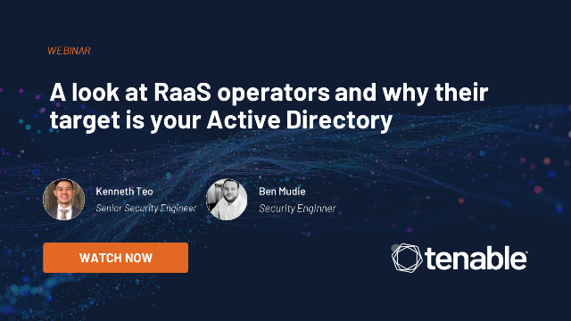 A look at RaaS operators and why their target is your Active Directory