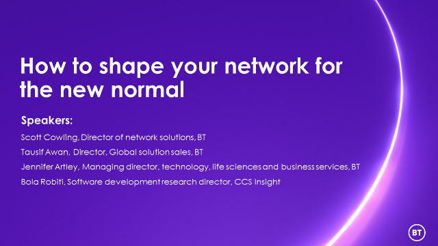 How to shape your network for the new normal