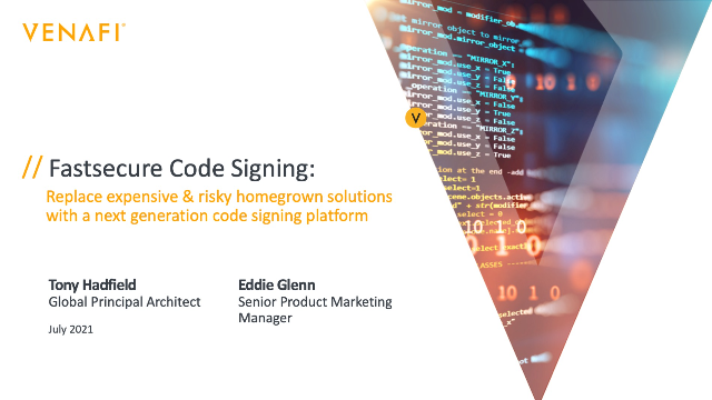 Fastsecure code signing: a next generation approach