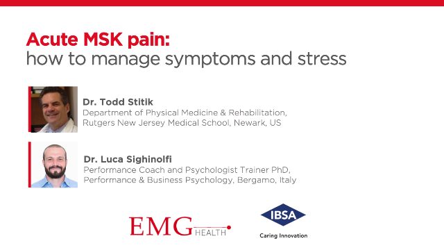 Acute MSK pain: how to manage symptoms and stress