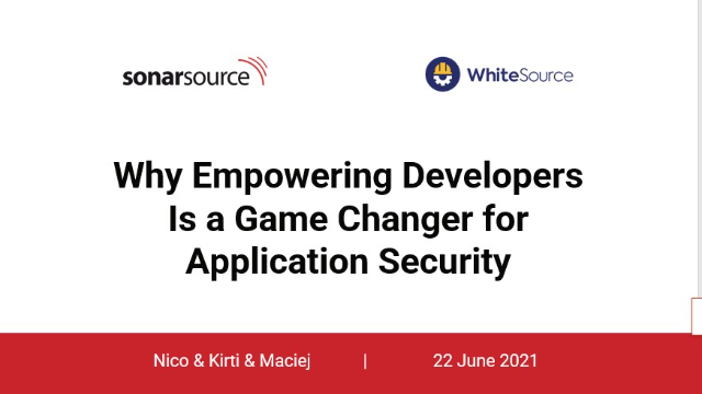 why-empowering-developers is a game changer for application security