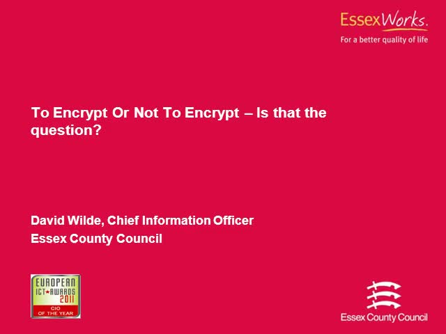 To Encrypt Or Not To Encrypt – That Is The Question?
