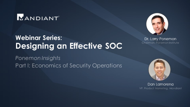 [Series] Designing an Effective SOC - Part I Economics of Security Operations
