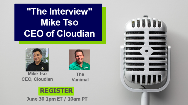 """""""The Interview"""" - Mike Tso, CEO and Co-Founder of Cloudian"""