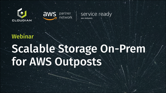 Scalable Storage On-Prem for AWS Outposts