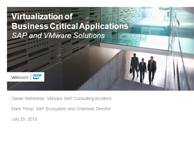 Virtualizing SAP…Getting Started