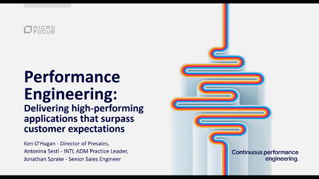 Micro Focus Performance Engineering Special Interest Group