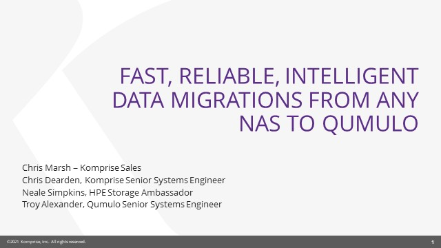 Fast, Reliable, Intelligent Data Migrations from Any NAS to Qumulo