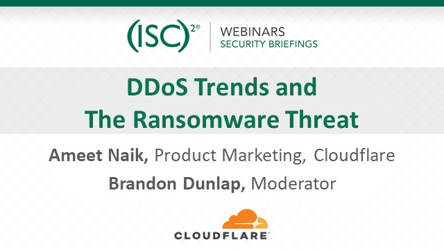 DDoS Trends and the Ransomware Threat