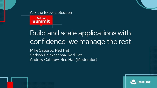 Build and scale applications with confidence