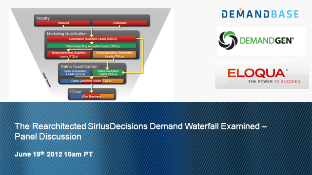 The Rearchitected SiriusDecisions Demand Waterfall Examined - Panel Discussion